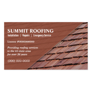 Roofers Double-Sided Standard Business Cards (Pack Of 100)