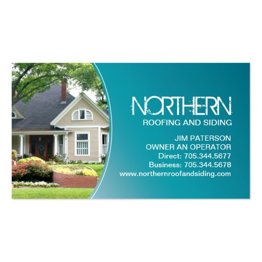 Roofing and siding business card zazzle for Business cards roofing design