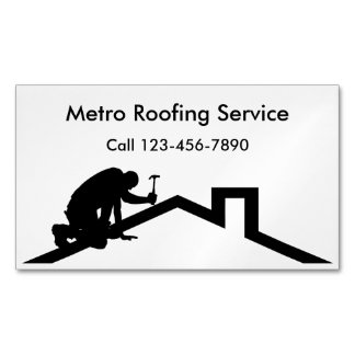 Roofing Business Card Magnets Magnetic Business Cards
