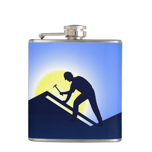 Roofing Business Flasks
