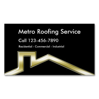 Roofing Business Magnets Magnetic Business Cards