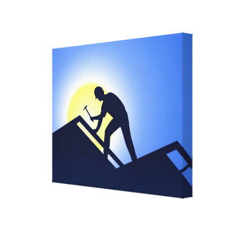 Roofing Canvas Print