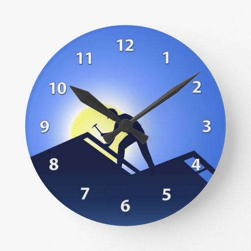 Roofing Wall Clock