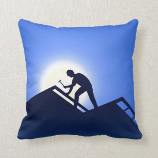Roofing Throw Pillow