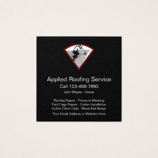 Roofing Home Services Square Business Card