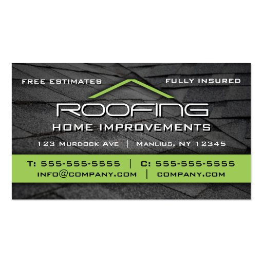Roofing Professional Business Card