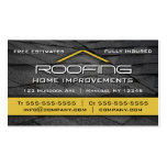 Roofing Professional Business Card Yellow
