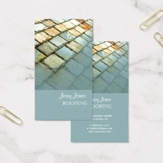 Roofing, Slate Roof Photo Business Card