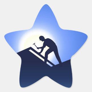 Roofing Star Sticker