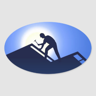 Roofing Oval Sticker