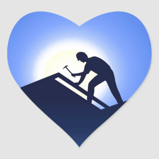 Roofing Heart Stickers