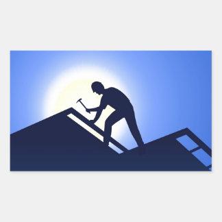 Roofing Rectangular Sticker