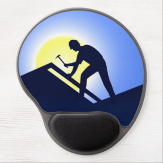 Roofing Worker Gel Mouse Pad