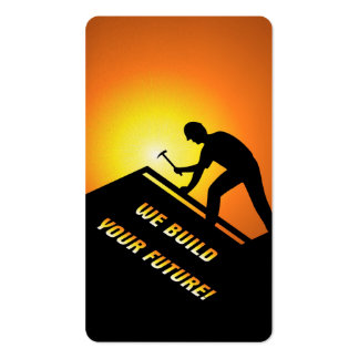 Roofing Worker Pack Of Standard Business Cards
