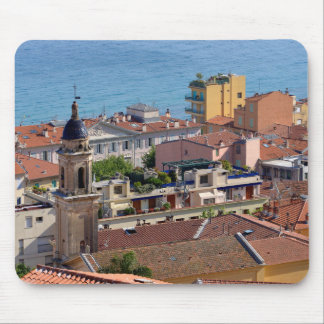 Roofs and Basilica at Menton in France Mouse Pad