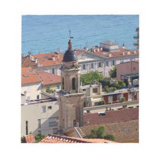 Roofs and Basilica at Menton in France Notepad