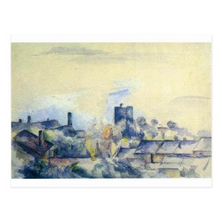 Roofs in L'Estaque by Paul Cezanne Postcard