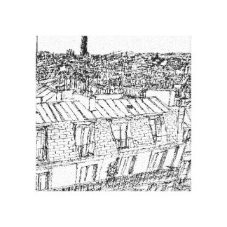 Roofs of the 10th turn montparnasse, invalids Pa Canvas Print