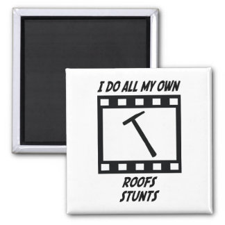 Roofs Stunts Square Magnet