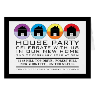 Rooftop Icons, Housewarming Party Invitation