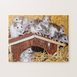Rooftop Mice Jigsaw Jigsaw Puzzle