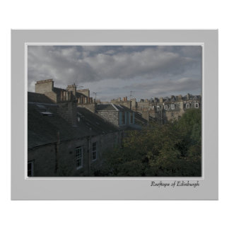 Rooftops of Edinburgh Poster