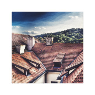 Rooftops of Prague Canvas Print
