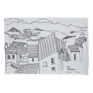 Rooftops of Sant'Antonino | Corsica, France Pillowcase