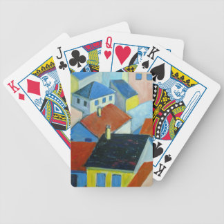 Rooftops playing cards