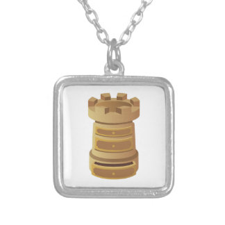 Rook Silver Plated Necklace