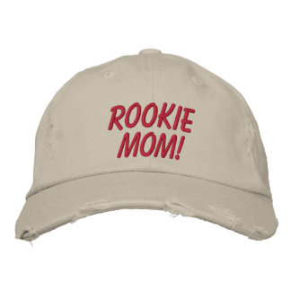 Rookie Mom Embroidered Baseball Caps