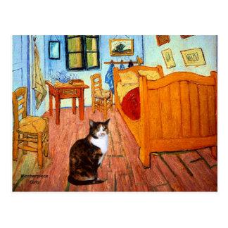 Room - Calico cat Postcard