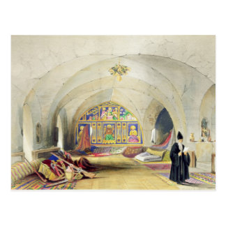 Room in an Armenian Convent, in Jerusalem (colour Postcard