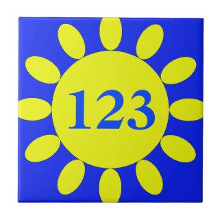 Room Number Sign Sunflower Tile