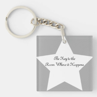 Room Where it Happens Keychain w/ Back