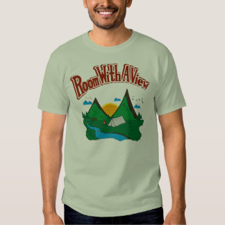 Room with a View T Shirt with Red Logo