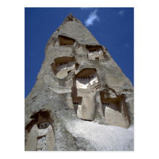 Rooms carved into conical rock, Cappadocia rock fo Post Cards