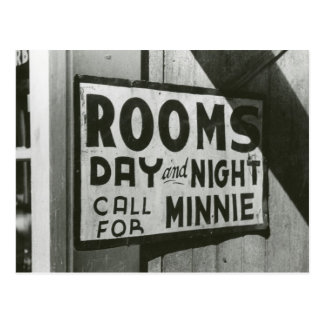 Rooms For Rent, 1939 Postcard