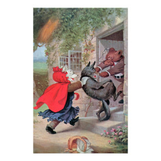 Roosevelt Bears Play Little Red Riding Hood Stationery Design