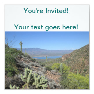 Roosevelt Lake From Tonto National Monument 13 Cm X 13 Cm Square Invitation Card