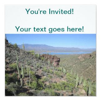 Roosevelt Lake View Tonto National Monument 13 Cm X 13 Cm Square Invitation Card
