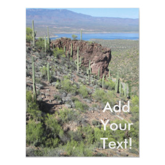 Roosevelt Lake View Tonto National Monument Magnetic Invitations