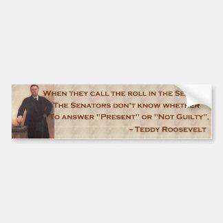 Roosevelt on the Senate Bumpersticker Bumper Sticker
