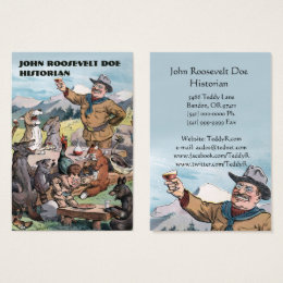 History teacher business cards business card printing zazzle roosevelt toasts wildlife historian business card reheart Gallery