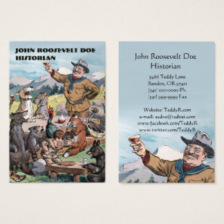 Roosevelt Toasts Wildlife Historian Business Card