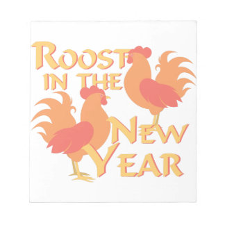 Roost In New Year Notepad