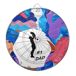 Rooster #1 Dad Dartboard With Darts