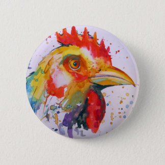 Rooster 6 Cm Round Badge