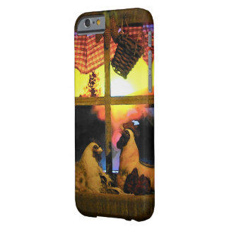 Rooster and Hen at Sunrise Barely There iPhone 6 Case