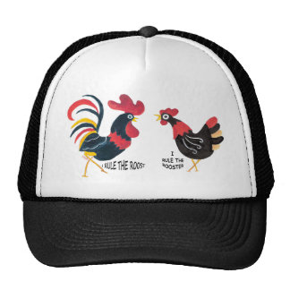 ROOSTER AND HEN Cap